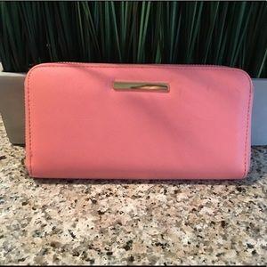 Handbags - Pink/Coral Zip Around long wallet Vegan